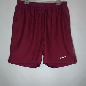 Nike Men's Dri Fit Crimson Red  Shorts